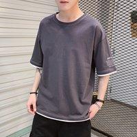 Short Pure Uomo Summer 2020 Cotton New T-shirt T-Shirt Trend Fashion Brand Ins Allentato Mezza manica inferiore