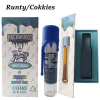 Wholesale packwoods Tubes Preollock Emballage articulaire Plastique Cookies en plastique Runtz Runty Tank Sèche Herbe Stockage Bouteille Silicone Cap Tube Boîte Emballage E Cigarette