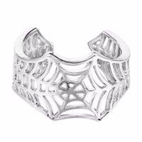 حلقات الزفاف kinitial الخفافيش اليدوية العنكبوت على شبكة الإنترنت الذيل لغز مجوهرات مفتوحة للتعديل حلق الدائري بالجملة بيجو