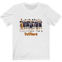 HAIKYUU Anime Tişört Erkekler Pamuk T Gömlek Karasuno Yüksek Voleybol Kulübü Giysileri Tees Erkekler T-Shirt Tops