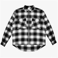 Men's Hoodies & Sweatshirts Black White Chess Askyurself V6 Women's jerseys 1:1 Heavy Woven High Quality Flannel fabric Zipper Camisa Com Tag