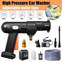 Power Tool Sets Water Gun Set High Pressure Electric Washer Kit For Car Floor 30000mah 24V Portable Adjustable Nozzle
