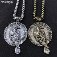 Naszyjniki wisiorek Odin Raven Talizman Amulet Viking Naszyjnik Wicca Bird Goth Jewlery Runes Neckles Wiccan Pagan Mężczyźni Kobiety Akcesoria