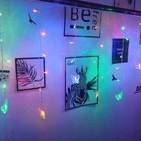 Strings Borboleta LED String 3.5m 100SMD 110V / 220V Festival Festival de Feriado Curtain de Icicle Luzes Christmas Wedding Lamps Decoração