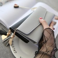 Wallets 2021 Long Clutch Heart Pendant Fashion Multifunctional Litchi Pattern Women's Wallet Pu Leather