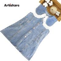 Девушка джинсовые платья лоскутное платье для кружева цветочные детские летние костюмы девушки 6 8 10 12 14 девушка