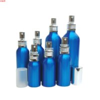 30ml 50ml 60ml 80ml 80ml 100ml 150ml frasco de spray azul requintado de alta qualidade metal alumínio atomizador parfum 20pcs / lothigh qty