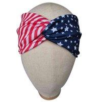 Filles transversales Rubans de cheveux Drapeau American Drapeau Drapeau Stripes et Star Coiffe américaine Élection Présidentielle Day Accessoires G55Z153