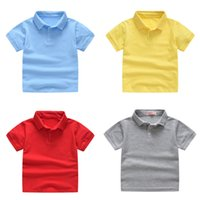 Boys Solid Polo Shirts Kids Short Sleeve Tops Toddler Boys Lapel Shirts Teens Casual Clothes Kids Girls Cotton T-shirts 06210130