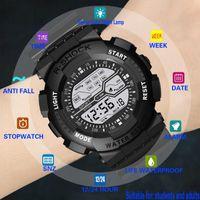 Семь цветов часы красочные светящиеся многофункциональные спортивный электронный монр-браслет залить Homme для мужчин наручные часы