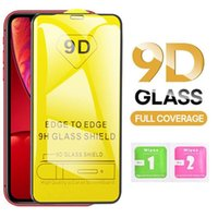 9D Cover Tempered Glass Full Glue 9H Screen Protector for iPhone 12 11 Pro Max XS XR X 8 Samsung S20 FE S21 Plus A12 A02S A32 A42 A52 A72 5G A31 A51 A71 A21S Huawei P40 P Smart