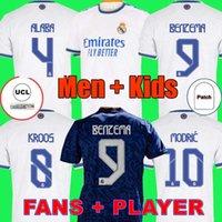 REAL MADRID jerseys Trikots 21 22 Fußballtrikot ALABA HAZARD BENZEMA VINICIUS Camiseta Fußballtrikot Uniformen Männer + Kinder Kit Sets 2021 2022