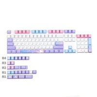 Keyboard Mouse Combos Mechanical PBT Keycap DYE-Sublimation Cherry Profile Magical Girl Japanese Personalized Keycaps For MX Kailh BOX