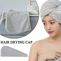 Towel Hair Drying Hat Quick-dry Cap Bath Microfiber Solid Super Absorption Turban Dry 19#