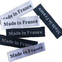 100 шт. / Лот сделано во Франции / Италия Происхождение Этикетки для одежды Одежда для одежды Ручной работы Теги для одежды Швейные понятия Швейная этикетка