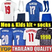Maglia da calcio Thailandia Inghilterra England soccer jerseys 2020 KANE STERLING RASHFORD 20 21 maglia da calcio nazionale da uomo + kit per bambini imposta uniforme