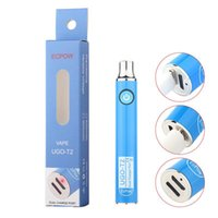 UGO T2 cartrideg 510 Thread Battery 650 900mAh Double Charging Dual USB Port Preheating VV Vaporizer for oil carts with 8 colors
