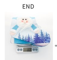 Led Glowing Christmas Tree Pendant Ornaments With Lights Large Stocking Socks Gift Bag Candy Bags Xmas Decoration For Santa Clause DHd8811