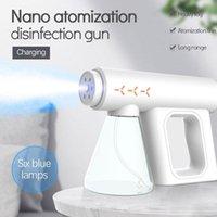 Storage Bottles & Jars Upgrade 300ML Disinfectant Sprayer Handheld Blue-Ray Nano Steam Sterilization Nebulizers Spray Gun For People Body Sk