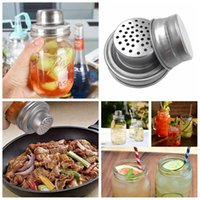 Mason Jar Shaker Lids Stainless Steel cover for Regular Mouth Mason Canning Jars Rust Proof Cocktail Shaker Dry Rub Cocktail 70mm LLA7464