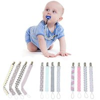 Pacifiers# 4Pcs Baby Pacifier Chain Clip Holder For Infant Feeding Nursing Teether Dummy Soother Nipple Strap Prendedor De Chupeta #2F