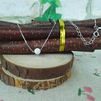 Collares colgantes (1 unid / lote) Synthetic 5mm White Opal Beads Collar de alta calidad S925 Silver para regalo