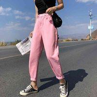 Guuzyuviz Casual Jeans Donna A Vita Alta Denim Slip Harem Pantaloni Mujer Plus Size Chic Jeans per le donne Combinaison Pantalon Femme 210331