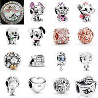 NEW 2021 100% 925 Sterling Silver798844C01 Lilo & Stitch charm and Heart Charmand luxurious DIY Women Original Bracelet Fashion Jewelry Gift