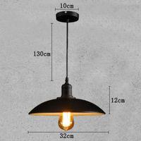 Retro iron pendant lamps, American loft, iron, creative, dining room, clothing, store chandelier, decoration E27 black K-PL3218