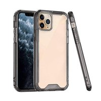 Clear Acrylic TPU PC Shockproof Case for iPhone 12 11 Pro Max XR XS 8Plus Phone Case Cover for Samsung Note20 S20 Ultra .