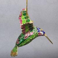 Artesanías Cloisonne de esmalte Chino Filigrana Encantos de Aves Adornos Animal Pequeño Artículo Decorativo Colgante Decoración Bolsa Colgante Regalos