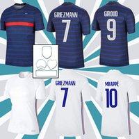 Euro 2020 Cup Mbappe Griezmann França Jersey Pogba Giroud Kante Maillot de Foot Equipe Maillots Camisa De Futebol Uniformes LA 2021 100 Ó 100 Anos Men + Kids Kit