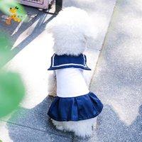 Köpek Giyim Parti Beyaz Orta Giyim Sevimli Cadılar Bayramı Pomeranya Doğum Günü Roupas Para Cachorro Kedi Elbiseleri KK6GQZ