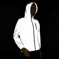 Rollsrari Novo Completo Jaqueta Reflexivo Homens / Mulheres Harajuku Windbreaker Jackets Hooded Hip-Hop Streetwear Night Night Shiny Coats 122 x0621