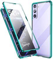 Caja de marco de metal de adsorción magnética Frente y trasero Vidrio templado Cobertura de pantalla completa para Samsung Galaxy S10 Plus S20 Ultra Note 20 Ultra