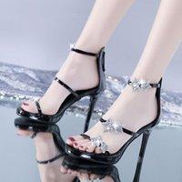 Women's Shoes 2021 Summer PUMPS 6CM 8CM 10CM High Heels Stiletto Pointed Hollow Work Sexy Fashion Sandals