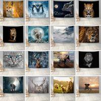 Tier hängen 3d bedruckte löwen tapisserie wand dekor für davor schlafzimmer lebendezimmer college