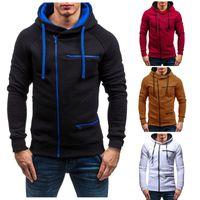 Men's Jackets Fashion Hoodie Men Winter Slim Warm Long Sleeve Cardigan Zip All-match Sports Loose Plus Size Sweatshirt Coat Jacket