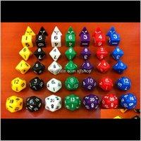 Gaming Polyhedral Dice Set Party RPG Игра Игрушка Развлечения Бозон 1 шт. D468101220 Хорошая цена Высокое качество 6 шт. D12 U4NVT EFVQI