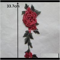 Ferramentas de Noções Múltiplas Cor Bordado Tecido de Laço 3D Aplicação de Flor Cira Colares DIY Costura Correias Artesanato Suprimentos Artesanato Vestido Acc 8Hzkw