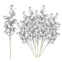 Flores decorativas grinaldas simulação bando de frutas diy acessórios decoração arranjos fio espuma glitter artificial cereja baga