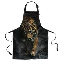 Aprons Bengal Tiger Smoky Black For Women Men Kid Cooking Baking Apron Kitchen Utility Equipment Accessories