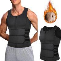 Gym Clothing Men Body Shaper Sauna Vest Waist Trainer Double Belt Slimming Fitness Abdomen Corset Sweat Shapewear Tops Fat Shirt Top Bur L9h