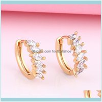 Charm Jewelrydesigners Selling Diamond French Advanced Personality Versatile Earrings For Women Drop Delivery 2021 E5Jii