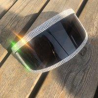 최신 겨울 남성 고글 블랙 큰 렌즈 UV400 안경 다이아몬드 스포츠 안경 멋진 특대 모자 디자인 선글라스