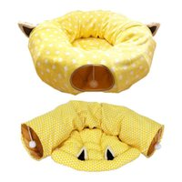 Pet Cat Litter Cushion Folding Tunnel Channel Rolling Rest Sleeping Bag Toy Puzzle Removable And Washable Toys