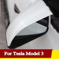 Tesla 모델 3 자동차 후방 미러 비 방패 눈썹 측면 방수 커버 스노우드 태양 바이저 그늘 2021