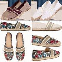 2021 المصممين الفاخرة قماش أبيض زهرة plimsolls صياد الأحذية المائل المرقعة المرأة الجرانفيل اسبدريليس إسبادريل منخفضة الكركديه m9ku #