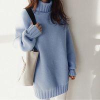 Sweters à manches longues Femmes Tops2021 Loose-Fit Coréen Sweather Sweach Sweach Sweates pour femmes