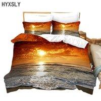 Bedding Sets Beautiful Sunset Cloud Duvet Cover Pillow Case Landscape Digital Print Set Adult Gift Luxury Bedline Queen Size Bedcloth